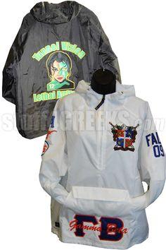 Custom Greek Anorak Pullover Jacket $99.00
