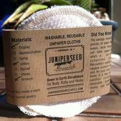 Birdseye Ecofriendly Alternative to Disposable Facial Poufs - Organic Unbleached Cotton Birdseye Rounds With BONUS Wash Bag