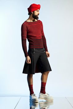 bateau stripe sweater - Jean Paul Gaultier Spring 2013 Menswear Collection