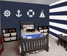 Add some classic design to your decor with this Sailor wall decal sticker set…