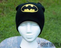 Batman Beanie Toboggan Hat Skull Cap Winter Warm Head Accessory Black Blue Embroidered unisex adult teen