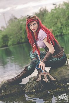 A very cool Ariel cosplay with dive tank like trident! - 10 Little ...