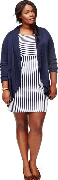 It's all about the stripes this spring with this Old Navy Ponte-Knit Sheath Dress.