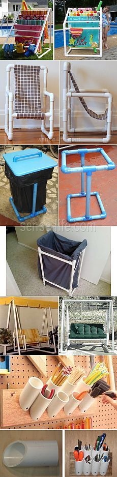 42 Ideas For Diy Garden Furniture Pvc Pipes Home Projects, Home Crafts, Diy Home Decor, Diy And Crafts, Projects To Try, Pvc Pipe Furniture, Diy Garden Furniture, Furniture Ideas, Diy Projects Pvc Pipes