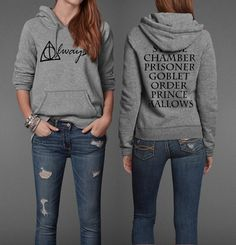Bc I'm a nerd that's why, Harry Potter Book Movie Title Inspired Potter Geek Head Unisex Pullover Hoodie Harry Potter Hoodie, Pull Harry Potter, Immer Harry Potter, Always Harry Potter, Harry Potter Outfits, Harry Potter Film, Harry Potter Clothing, Harry Potter Sempre, Psychobilly