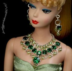 ( The Barbie Doll and dress are not included ). 1 pair of earrings. 1 piece of necklace. Color: as the picture shown. Get Images that. Make Supersized Seem Small. | eBay!