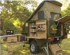 Conqueror popup trailer has a place for everything and is ready for anything : TreeHugger