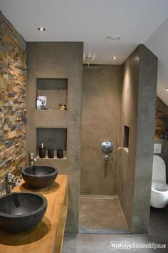 115 Extraordinary Small Bathroom Designs For Small Space 0102 - kleines badezimmer Modern Bathroom Design, Bathroom Interior Design, Bathroom Designs, Bath Design, Shower Designs, Interior Modern, Modern Design, Eclectic Bathroom, Interior Paint