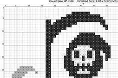 KILLIN IT Grim Reaper Cross Stitch Pattern Dark humor is the best humor. ★This listing is for the pattern only. No physical item will be sent. It is an instant download PDF. ★The stitched image is 61w x 69h stitches. This pattern uses full stitches only. ★If you have any questions