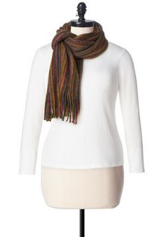 Brushed Stripe Cold Weather Scarf