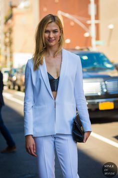 Karlie Kloss by STYLEDUMONDE Street Style Fashion Photography