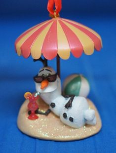 Disney Store Frozen Olaf Snowman Christmas Ornament 2014 w/ tag Sold Out In Hand #DisneyStore