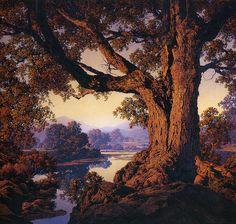Maxfield Parish #tree #landscape #art