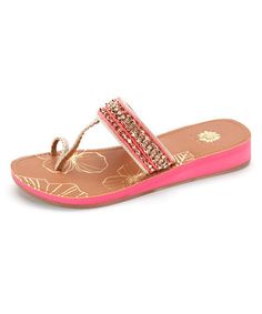 Look at this #zulilyfind! Natural Cabana Sandal by Yellow Box Shoes #zulilyfinds