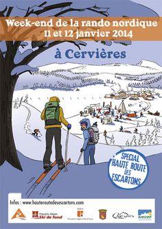 Week-end de la randonnée nordique. Du 11 au 12 janvier 2014 à Cervières.
