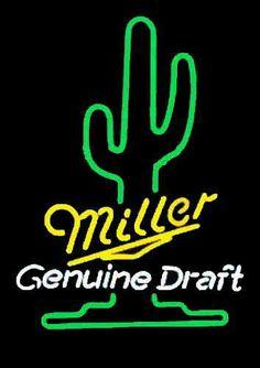 Miller Genuine Draft cactus neon sign