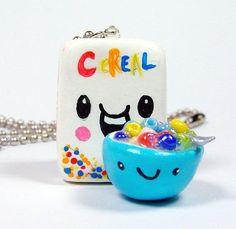 Kawaii cereal polymer clay charm