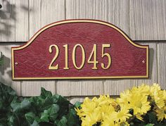 Admiral Address Plaque Entryway Size