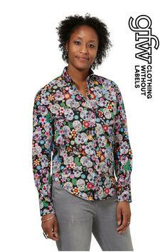 ec697dc873648 GFW Clothing - Sugar Skulls long sleeved shirt Short Sleeve Button Up