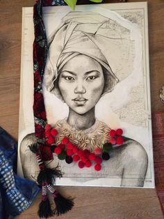 Aujourd'hui je vous raconte l'histoire de Daphné O., la toute première toile réalisée à quatre mains avec Maud Villaret, créatrice de la ma...