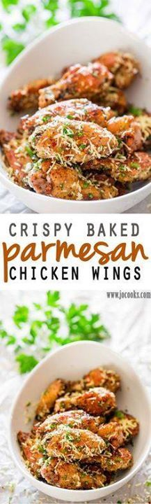 Crispy Baked Parmesa Crispy Baked Parmesan Chicken Wings - These chicken wings are baked crisp to a golden perfection then smothered in a Parmesan cheese parsley and chili flakes mixture. Its finger licking good! Recipe : http://ift.tt/1hGiZgA And @ItsNutella  http://ift.tt/2v8iUYW  Crispy Baked Parmesa Crispy Baked Parmesan Chicken Wings - These...