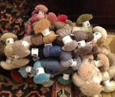 Selecting colors for a custom rug.