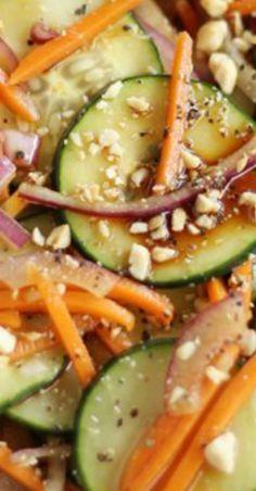 Garlic Soy Cucumber Salad