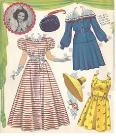 shirley temple paper dolls.