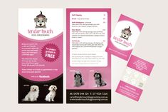 Tender Touch Dog Grooming DL flyer and business card design by ITALIC