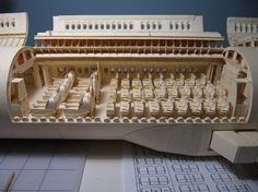 Man who built scale model of a Boeing 777 entirely out of paper. Patience!