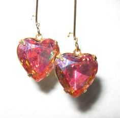 ROSE SPARKLE HEARTS by MimiJewels on Etsy, $9.00