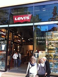 Levi's new flagship store on Champs Elysées, Paris