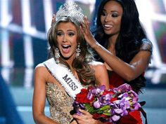 Image: Miss Connecticut Erin Brady reacts as she is crowned by Miss USA 2012 Nana Meriwether during the Miss USA pageant in Las Vegas
