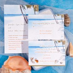 Seal and Send Beach Wedding Invitations to Set the Tone for Your Beach Theme Weddings |