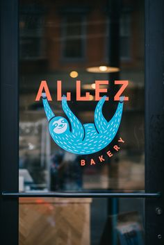 Allez Bakery Sloth Logo Mark Allez Bäckerei Faultier Logo Mark The post Allez Bäckerei Faultier Logo Mark & Graphic Design appeared first on Logo . Branding Logo Design, Bakery Branding, Bakery Logo Design, Brand Identity Design, Corporate Branding, Logo Inspiration, Typography Logo, Graphic Design Typography, Serif Typeface