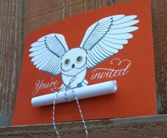 Love this invite, owls are my favorite.-BMM
