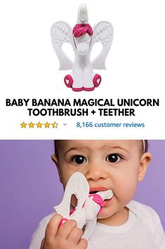 Baby Banana's Magical Unicorn Brush makes brushing and teething an enchanting experience! Toys For Girls, Baby Dolls, Baby Kids, Baby Shower Parties, Baby Shower Gifts, Unicorn Brush, Fairy Tales For Kids, Bebe