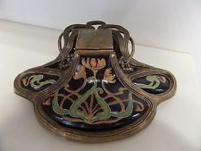 Encrier de style art nouveau Porcelaine Bronze Céramique