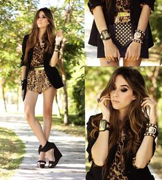 Kafé By Fashion Coolture Bracelets, Kafé By Fashion Coolture Bracelets, Romwe Shirt, Joa + Closet Shorts