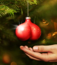 Sean's step 3: try to re-appropriate clever Christmas decs for your #Y2HAYYYYY party; e.g., testicular ornaments are timeless.