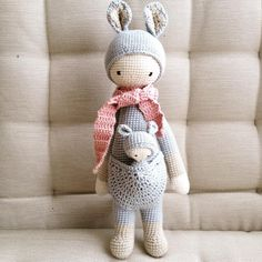 KIRA the kangaroo made by Svenja P. / crochet pattern by lalylala