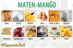 Esperanto Language, International Recipes, Mango, Languages, Breakfast, Passion, Food, Vocabulary, Manga