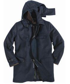 Barbour : Lindisfarne Wool Jacket - Navy