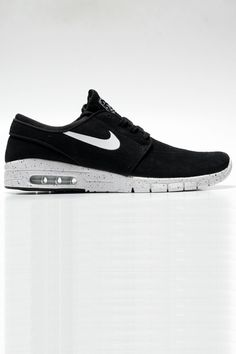on sale cc0da 5d2fb Nike SB Stefan Janoski Max L Black   White, buy now at City Surf, Cardiff,  UK. This new shoe combines the Air Max sole with a classy Janoski upper!
