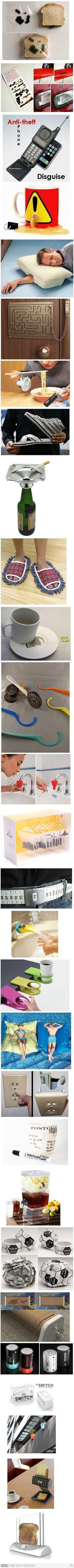 Awesome inventions...except why the fuck would you hide a tooth brush in the wall