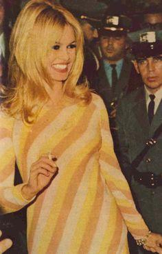 "mid-centurylove: "" Brigitte Bardot in New York,1966 "" Miss Brigitte Bardot"