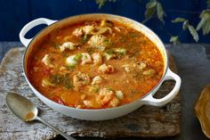 Catalan fish stew is a simple one pot dish thats bursting with seafood and chilli flavours. Use good quality tinned tomatoes for the best flavour and try squid mussels and lobster tails for the meat- delicious! This seafood stew is perfect for sharing and Seafood Stew, Seafood Dinner, Mussels Seafood, Seafood Party, Seafood Platter, Fish Recipes, Seafood Recipes, Cooking Recipes, Cheap Recipes