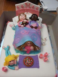 Sleep-over birthday cake -   60's themed - Peace