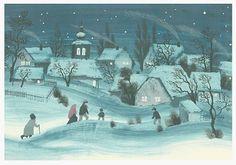 Jiří Trnka - winter session Winter Fairy, Children's Book Illustration, Book Illustrations, Classic Paintings, Children's Literature, Animation Film, Czech Republic, New Art, Painting & Drawing