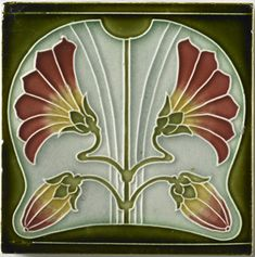 I wonder if I could make some art nouveau tiles.
